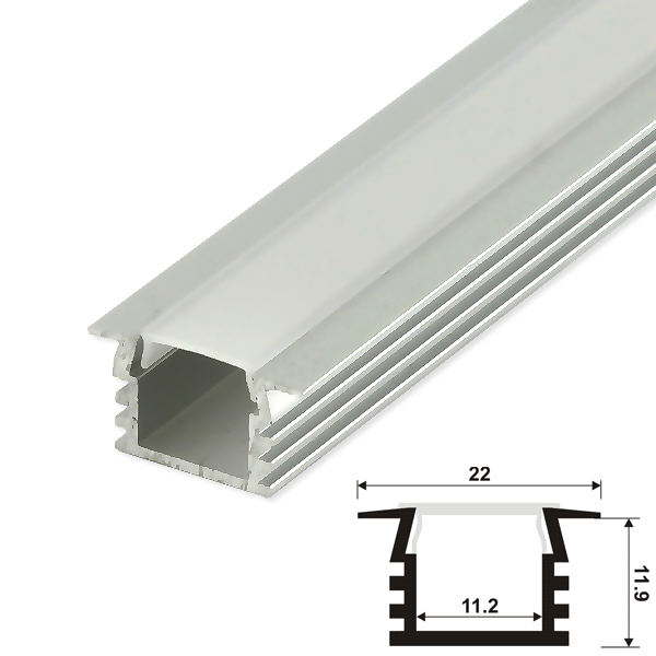led strip aluprofil set schiene alu profil aluminium streifen profilschiene elox ebay. Black Bedroom Furniture Sets. Home Design Ideas